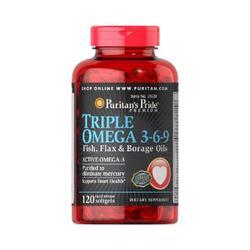 Puritan's Pride Triple Omega 3 6 9 Fish, Flax & Borage Oils 120 Viên