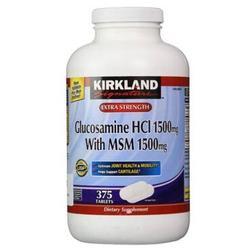 Kirkland Glucosamine HCL 1500mg With MSM 1500mg 375 Viên