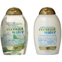 Bộ Dầu Gội Và Dầu Xả OGX Weightless Hydration Coconut Water 385 ml