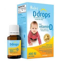 Thuốc Nhỏ Cho Trẻ Sơ Sinh Baby Ddrops Vitamin D3 400 I.U 90 Giọt