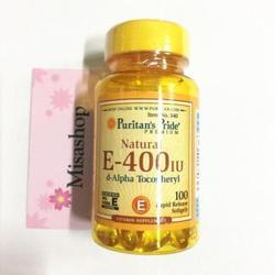 Puritan's Pride Vitamin E 400 IU 100 Viên - Xóa Nhăn Hiệu Quả