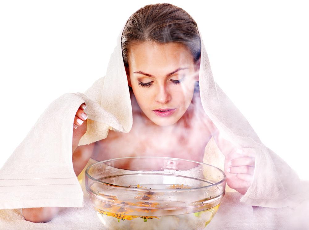 Làm mềm da với hơi nước