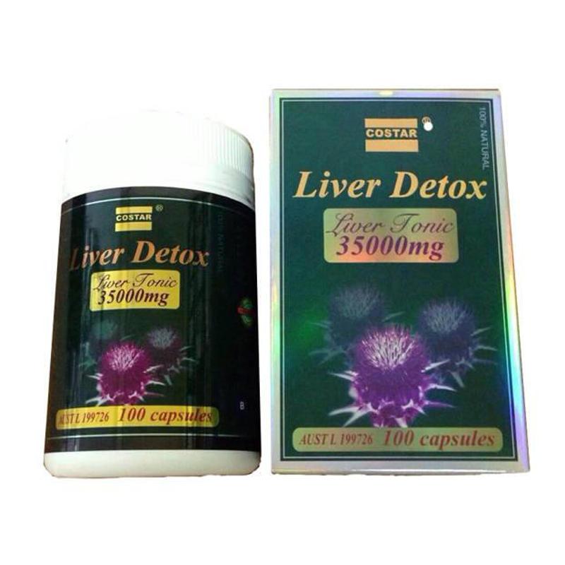 Viên Uống Giải Độc Gan Liver Detox Costar 35000mg - Mát Gan, Giải Độc
