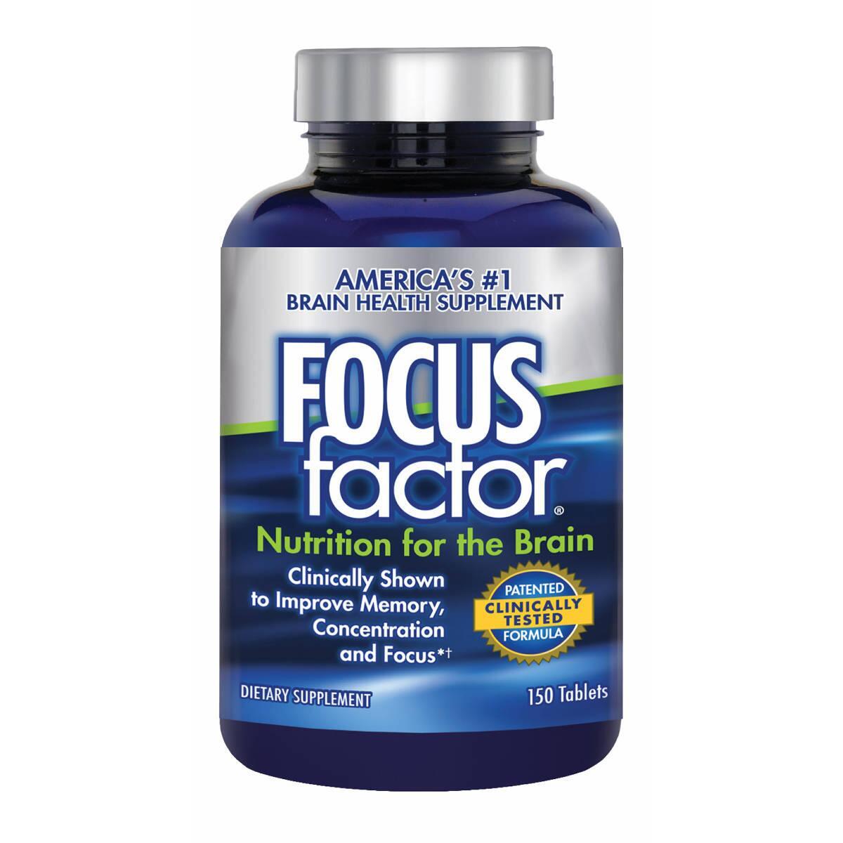 Viên uống bổ não, tăng cường trí nhớ cho học sinh và người già, 150 viên- Focus factor Dietary Supplement