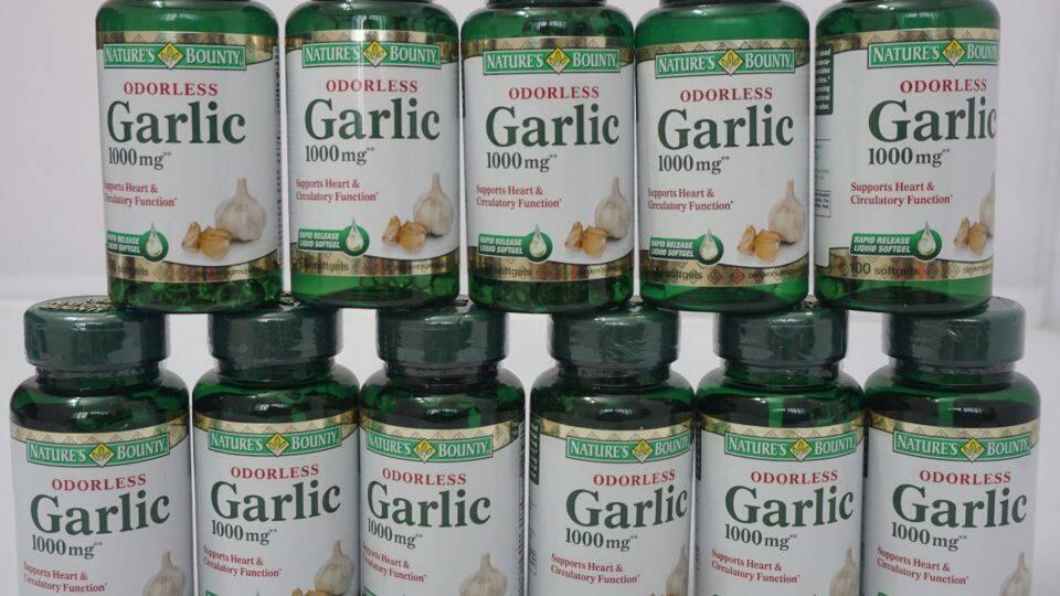 Tinh Dầu Tỏi Nature's Bounty Odorless Garlic 1000mg Hộp 100 Viên