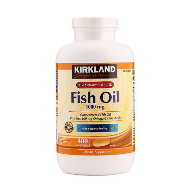 dau ca kirkland omega 3 fish oil 1000mg