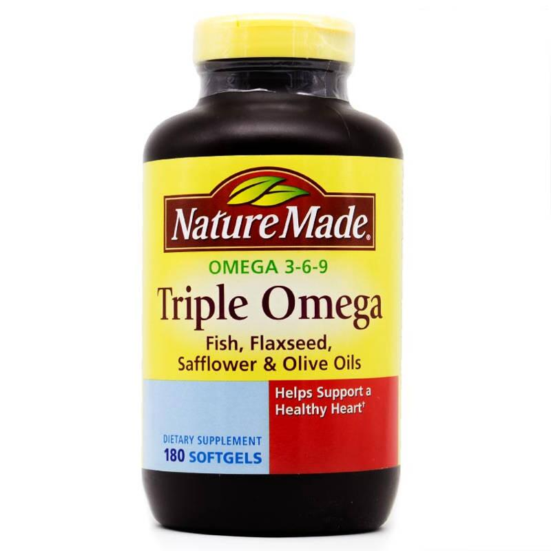 Dầu Cá Nature Made Triple Omega 3-6-9 180 Viên