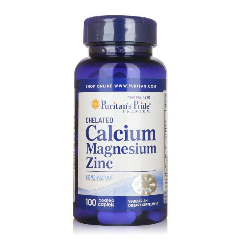 Chelated Calcium Magnesium Zinc Puritans Pride 100 Viên Của Mỹ
