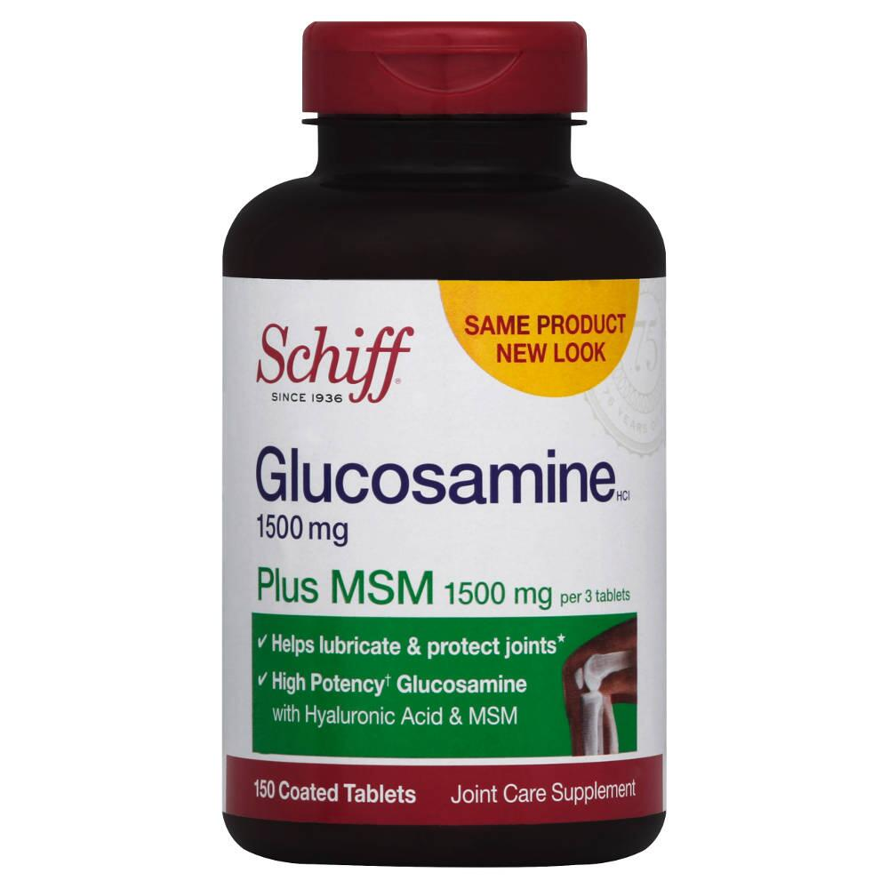 Viên Uống Glucosamine Schiff Plus MSM 1500mg Hộp 150 Viên