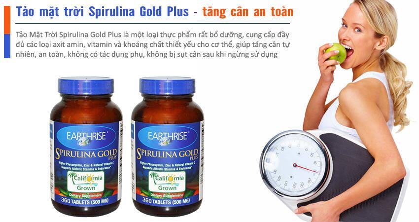 Tảo Mặt Trời Spirulina Gold Plus 360 Viên - Tăng Cân An Toàn