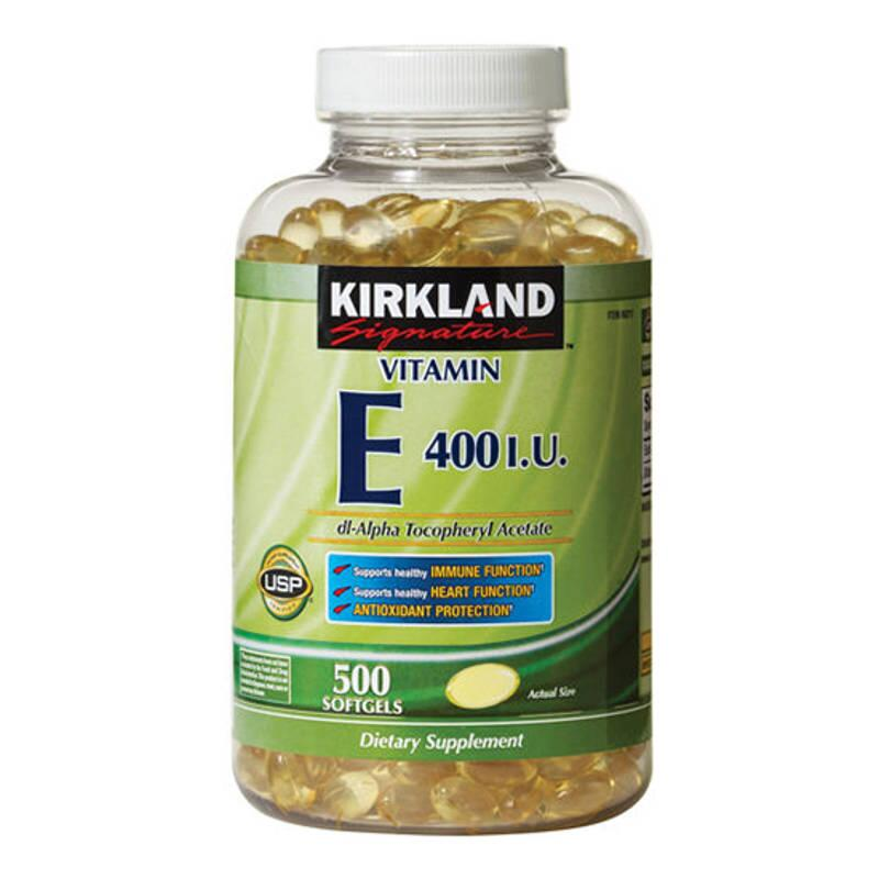Viên Bổ Sung Vitamin E - Kirkland Signature Vitamin E 400 IU 500 Viên