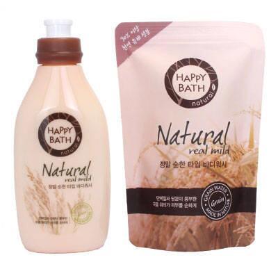 Sữa Tắm Cao Cấp Happy Bath Hàn Quốc Chai 500ml + Túi 250ml