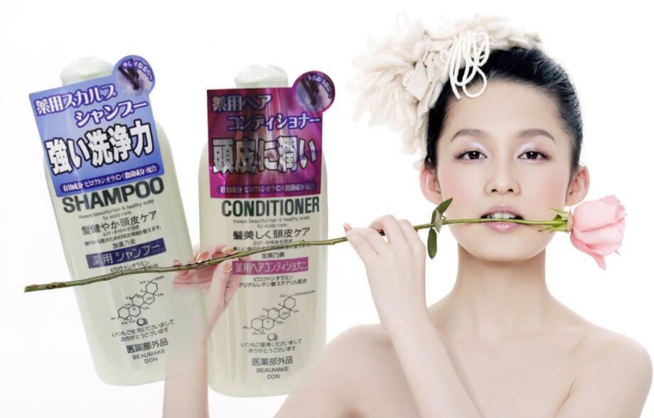 Bộ dầu gội và dầu xả kích thích mọc tóc Kaminomoto Medicated 300 ml