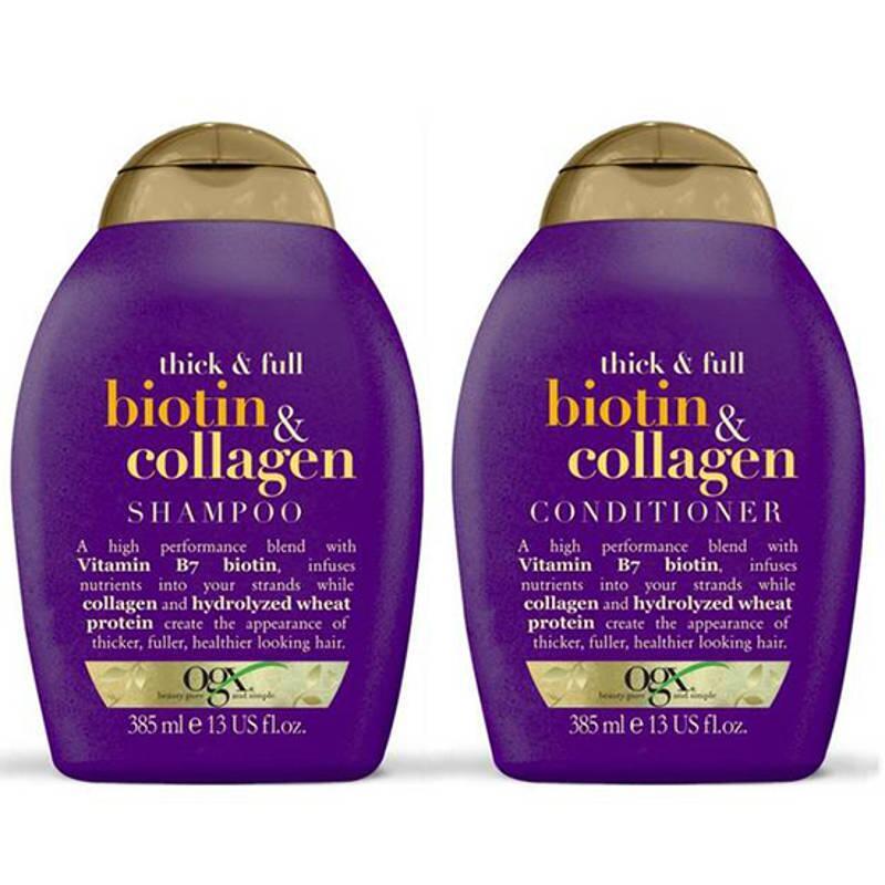 Bộ dầu gội và dầu xả OGX Thick & Full Biotin & Collagen