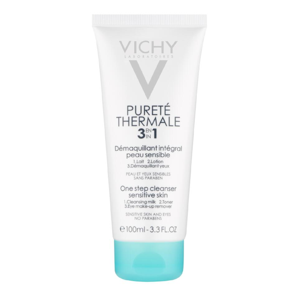 Sữa rửa mặt tẩy trang Vichy purete thermale 3 in 1 one step cleanser sensitive skin