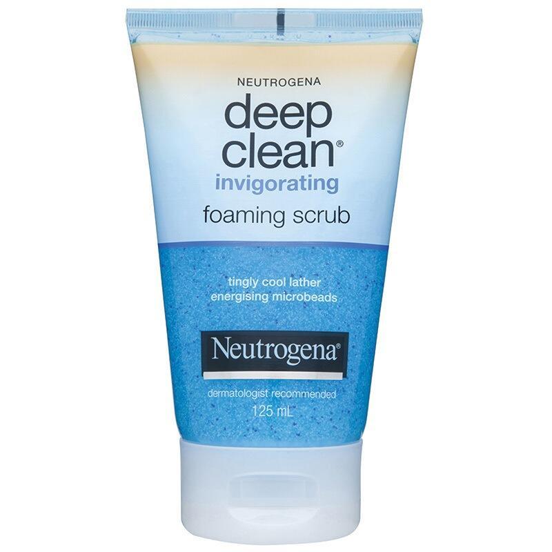 Sữa rửa mặt Neutrogena Deep Clean Invigorating Foaming Scrub 125 ml