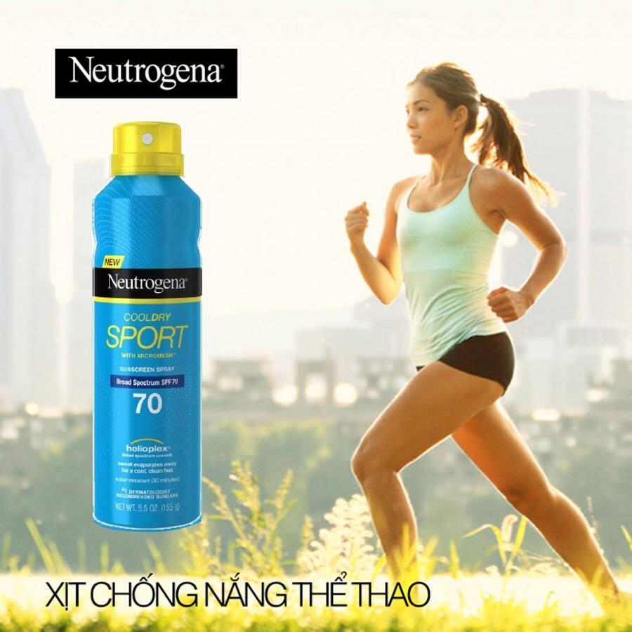 Xịt chống nắng Neutrogena Cool Dry Sport SPF70 155g