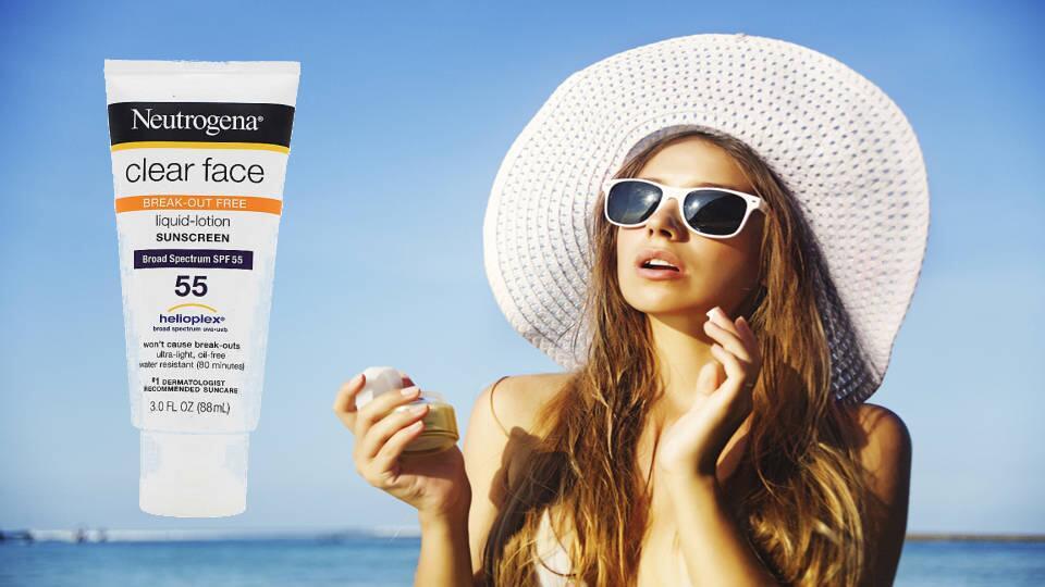 Kem chống nắng Neutrogena Clear Face Broad Spectrum SPF 55