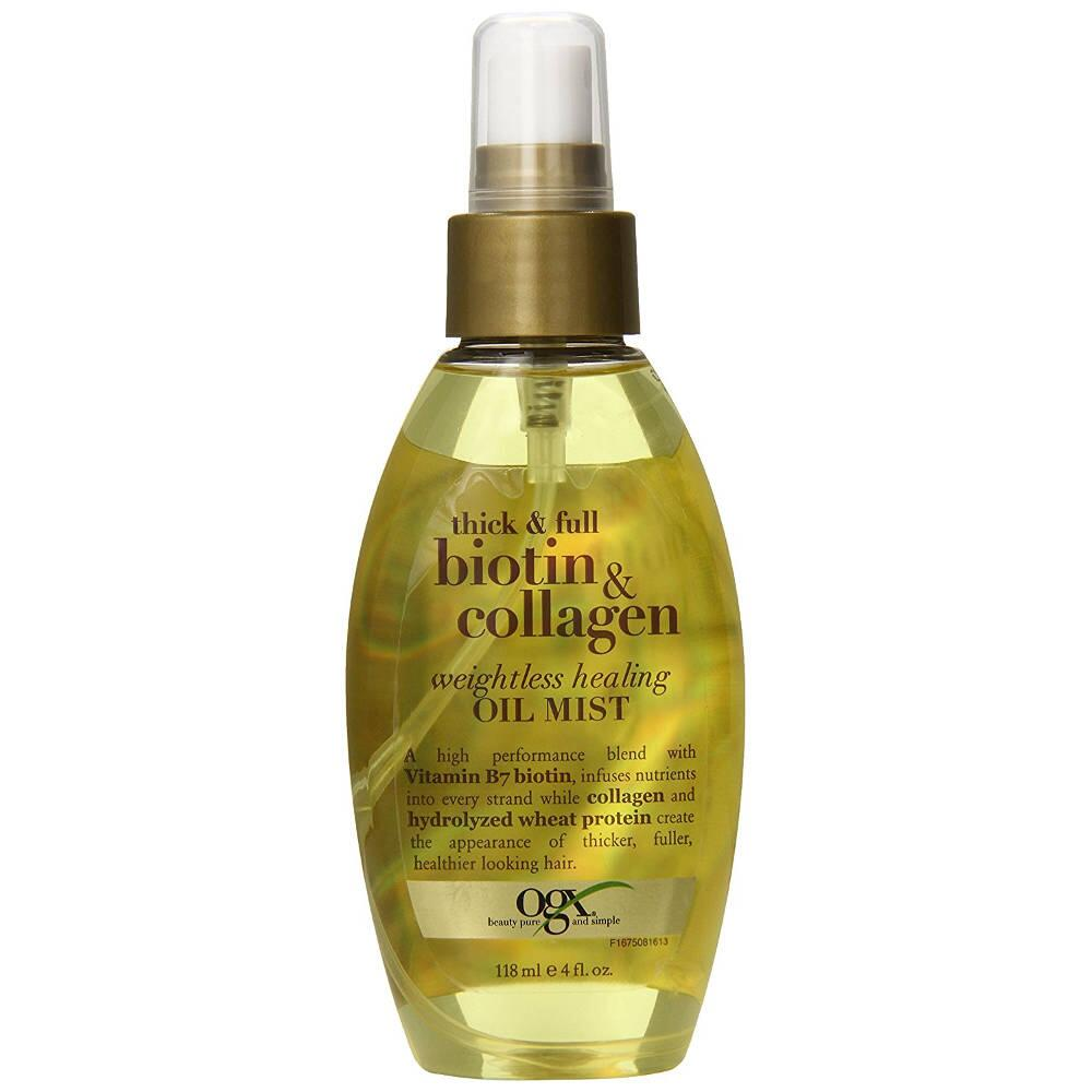Xịt dưỡng tóc OGX Thick & Full Biotin & Collagen Weightless Healing Oil Mist 118ml