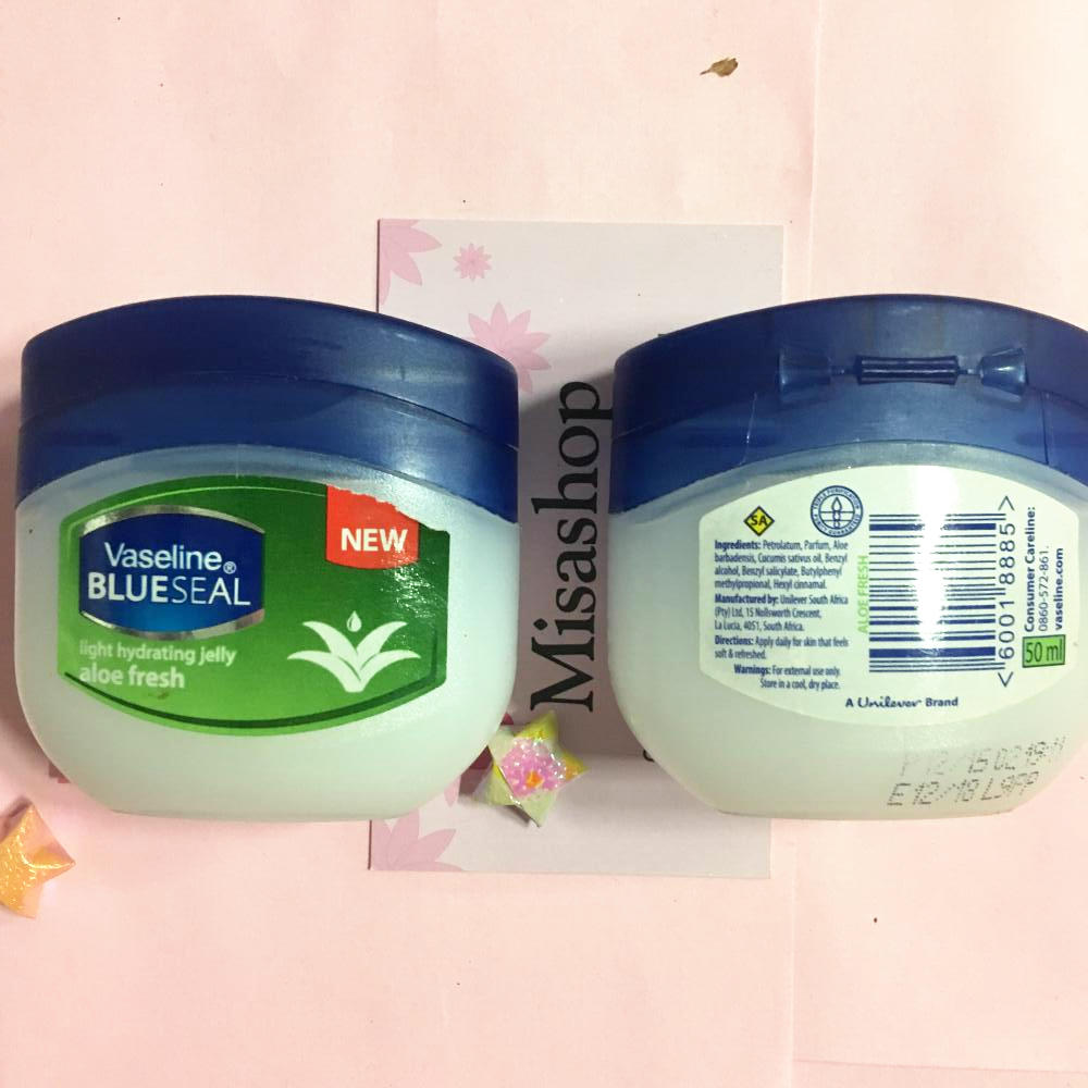 Sáp dưỡng ẩm Vaseline Blueseal Light Hydrating Jelly Aloe Fresh