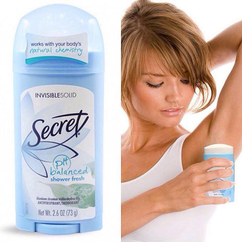 Lăn khử mùi dạng sáp Secret Invisible Solid 73g