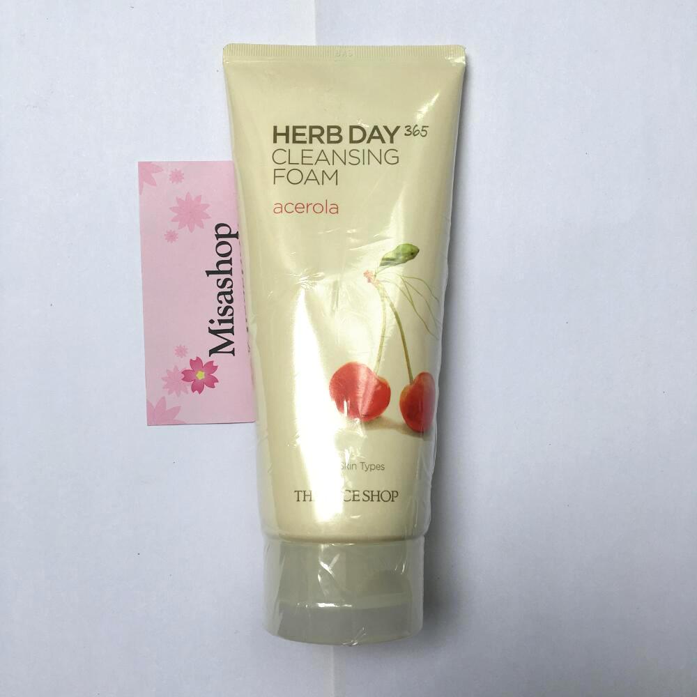 Sửa rửa mặt Herb Day 365 Cleansing Foam TheFaceShop