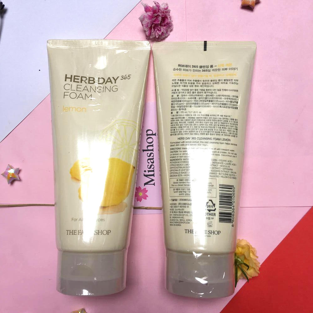 Sửa rửa mặt Herb Day 365 Cleansing Foam TheFaceShop