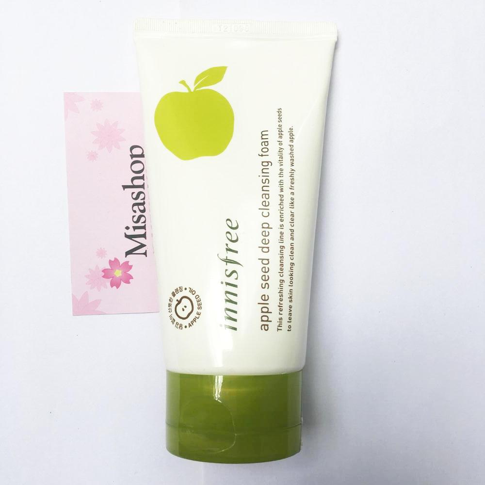 Sữa rửa mặt làm sạch sâu Innisfree apple seed deep cleansing foam