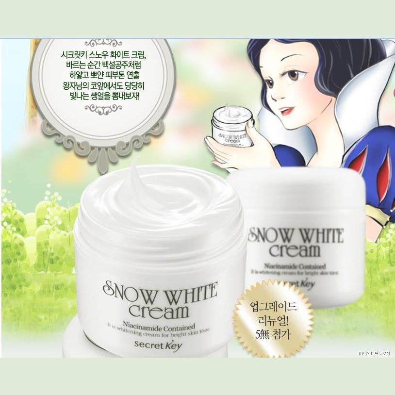 Kem dưỡng trắng Snow White Cream Secret Key