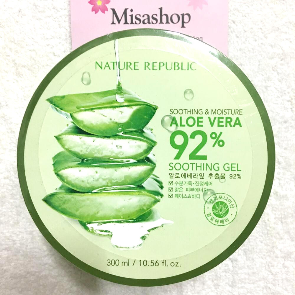 Gel nha đam Nature Republic Soothing & Moisture Aloe Vera 92% Soothing Gel