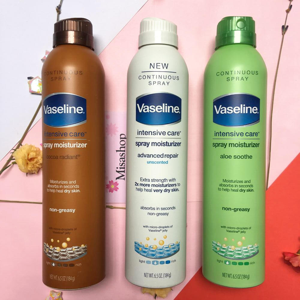 Xịt dưỡng thể Vaseline intensive care spray moisturizer