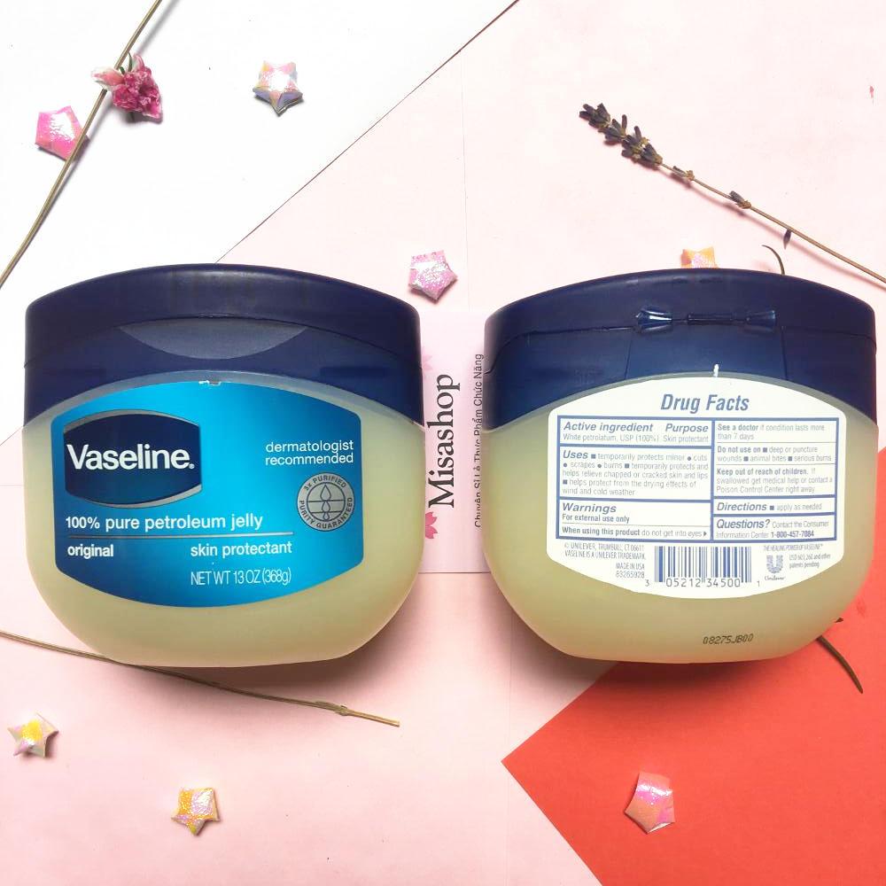 Sáp dưỡng ẩm Vaseline 100% Pure Petroleum Jelly Original Skin Protectant