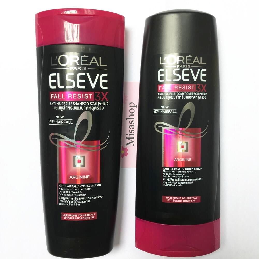 Bộ dầu gội và xả ngăn gãy rụng tóc L'oreal Fall Resist 3X
