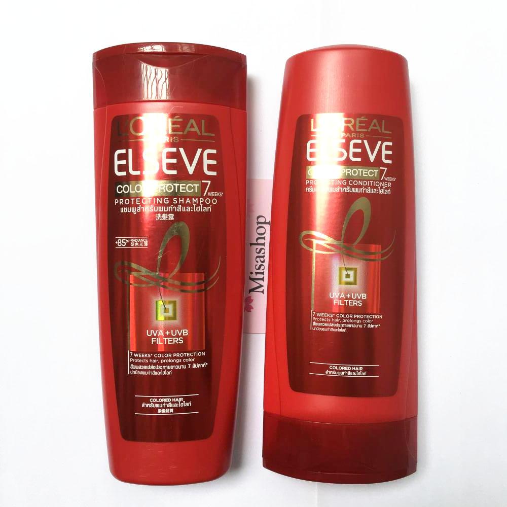 Bộ dầu gội và xả cho tóc nhuộm L'oreal Color Protect