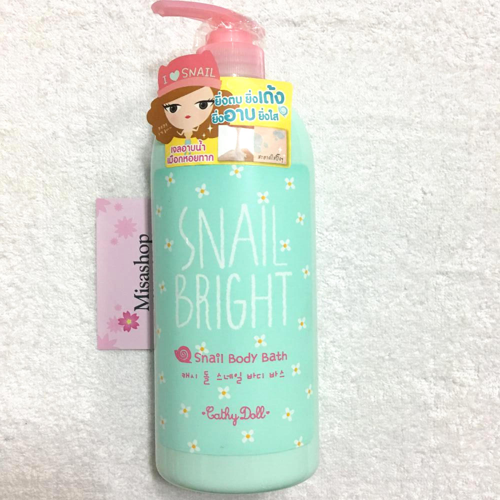 Sữa tắm Cathy Doll Snail Bright Snail Body Bath 750ml