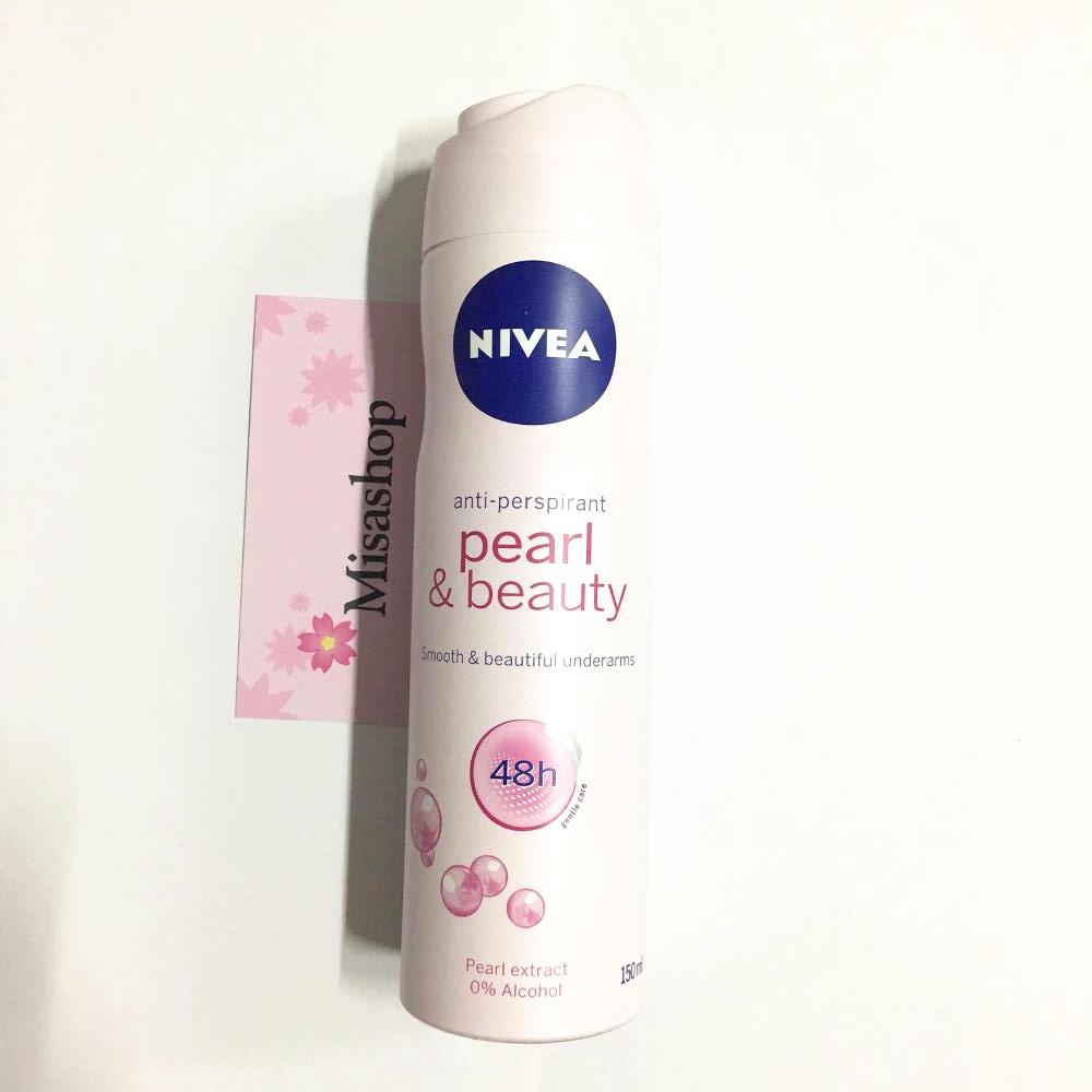 Xịt khử mùi Nivea ngọc trai Pearl & Beauty 48h