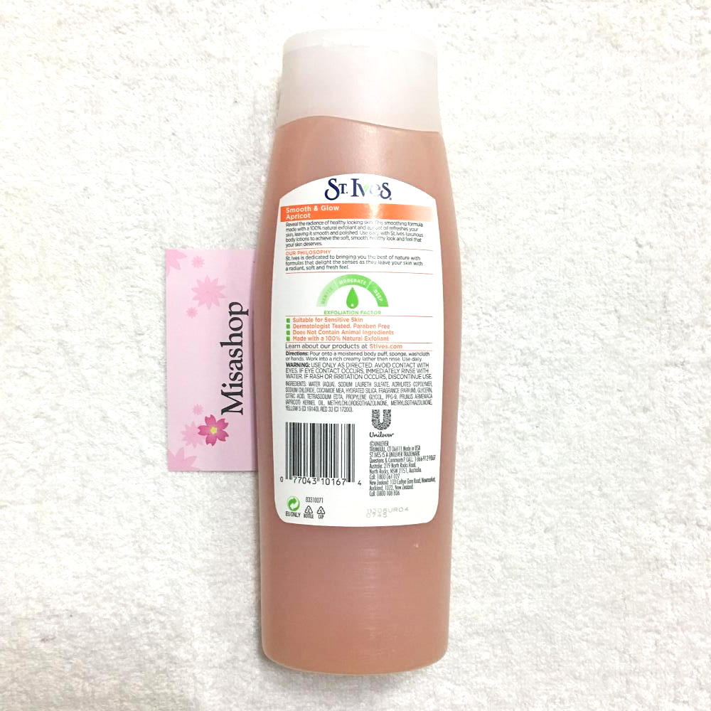 Sữa tắm St.Ives Smooth & Glow Apricot Exfoliating