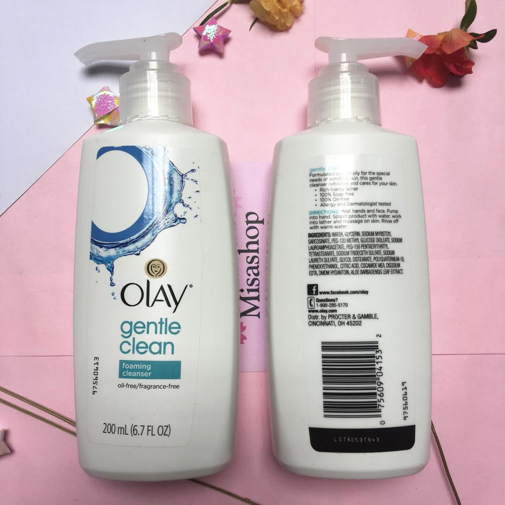 sữa rửa mặt Olay Gentle Clean Foaming Cleanser